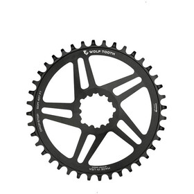 Wolf Tooth Flat Top Chainring DM SRAM, negro